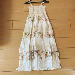 シマムラ(しまむら)のリゾート風花柄ロングスカート(ロングワンピース/マキシワンピース)