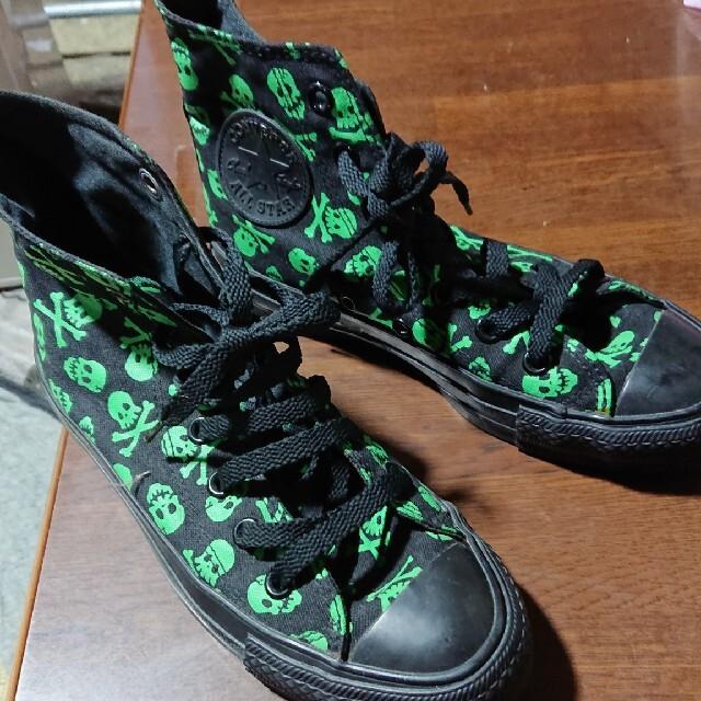 CONVERSE(コンバース)の最終お値下げ・美品☆スカル柄・ハイカットコンバーススニーカー レディースの靴/シューズ(スニーカー)の商品写真