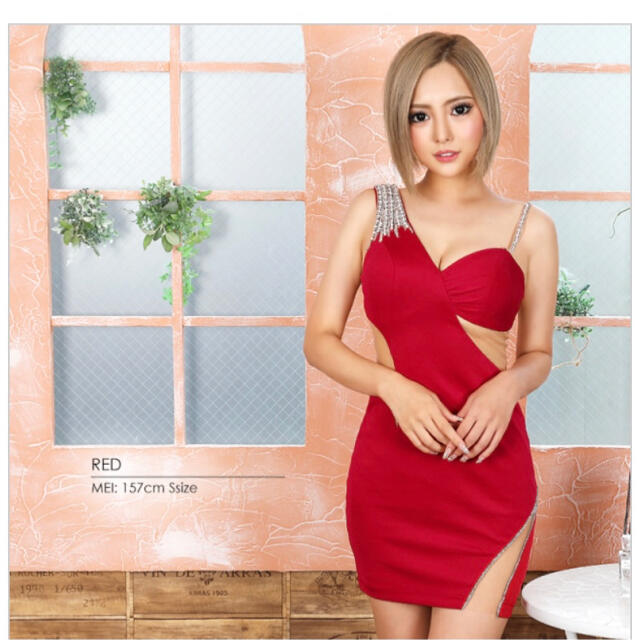 AngelR(エンジェルアール)のAngelR 赤ドレス レディースのフォーマル/ドレス(ナイトドレス)の商品写真