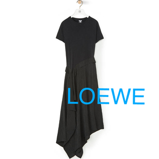 ロエベ(LOEWE)のLOEWE♡ロエベ SATIN&JERSEYTシャツドレス(ロングワンピース/マキシワンピース)