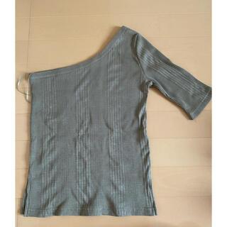 マウジー(moussy)のリブ ワンショルトップス(カットソー(半袖/袖なし))