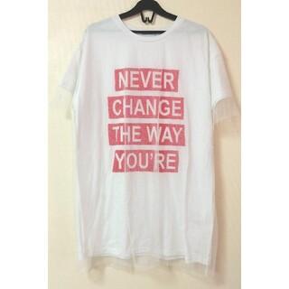 美品 レース付 Tシャツ(Tシャツ(半袖/袖なし))