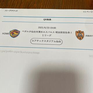 6月23日ベガルタ仙台対清水エスパルス自由席南(サッカー)