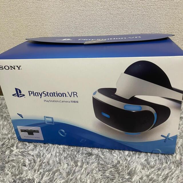PlayStation VR(プレイステーションヴィーアール)のPlayStationVR/Camera同梱版 CUHJ-16001 生産終了品 エンタメ/ホビーのゲームソフト/ゲーム機本体(家庭用ゲーム機本体)の商品写真
