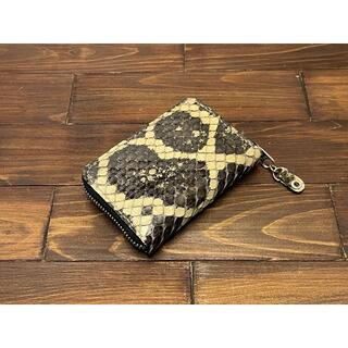 【金運アップに!】アナコンダのラウンドファスナーミニ財布(財布)