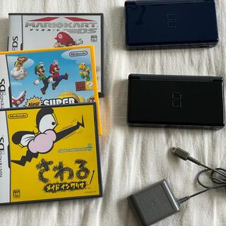 ニンテンドーDS(ニンテンドーDS)のDS 本体 & ソフト3つ(携帯用ゲーム機本体)