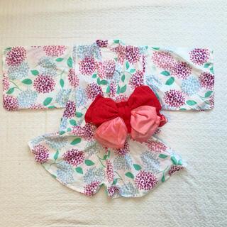 シマムラ(しまむら)の浴衣ドレス 紫陽花 95(甚平/浴衣)