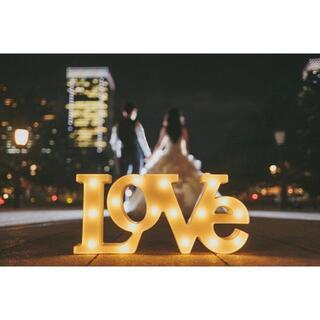 新品 電池式 マーキーライト love ラブ 結婚式(その他)