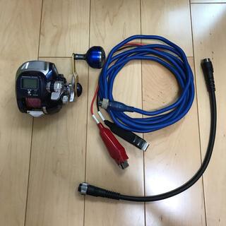 SHIMANO - 変換ケーブル付き シマノ 電動丸 400 C 電動リール ライトタックル