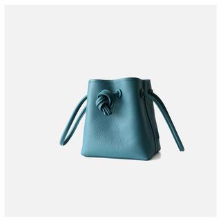 TOMORROWLAND - vasic風デザイン 本革 巾着ミニバッグ 水色