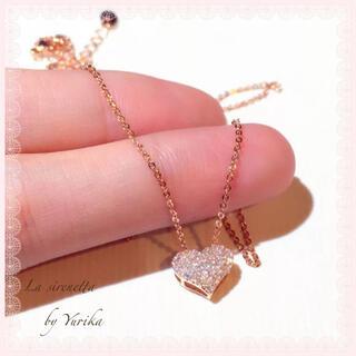 アーカー(AHKAH)のHeart micro pave necklace(ネックレス)