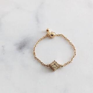 TOMORROWLAND - 美品 K18 チェーン ダイヤモンドリング セレクトショップ購入