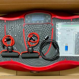 シェイカー式 ぶるぶる振動マシン レッド(エクササイズ用品)