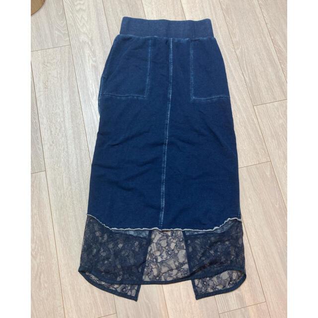 mame(マメ)のmame kurogouchi マメ コットン スカート レース デニム レディースのスカート(ロングスカート)の商品写真
