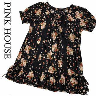 ピンクハウス(PINK HOUSE)の【大人気☆】ピンクハウス 花柄 レース リボン チュニック ブラウス(チュニック)