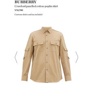 BURBERRY - 新品♡BURBERRY クロフォード パネル コットンポプリンシャツ