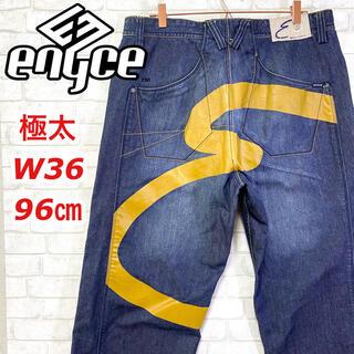 エニーチェ(ENYCE)のENYCE エニーチェ 極太 バギー ワイドデニム ビッグプリント W36(デニム/ジーンズ)