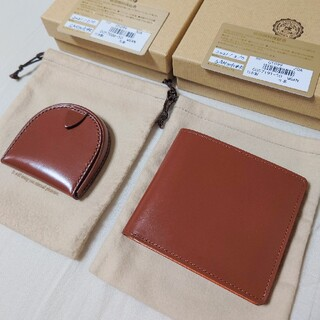 GANZO - 【未使用】GANZO シンブライドル純札入れ&馬蹄型コインケース ヘーゼル