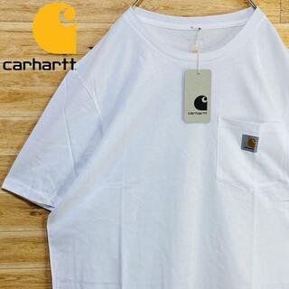 カーハート(carhartt)の③【新品未使用】カーハートCarhartt白tシャツ半袖XLワンポイントポケット(Tシャツ/カットソー(半袖/袖なし))