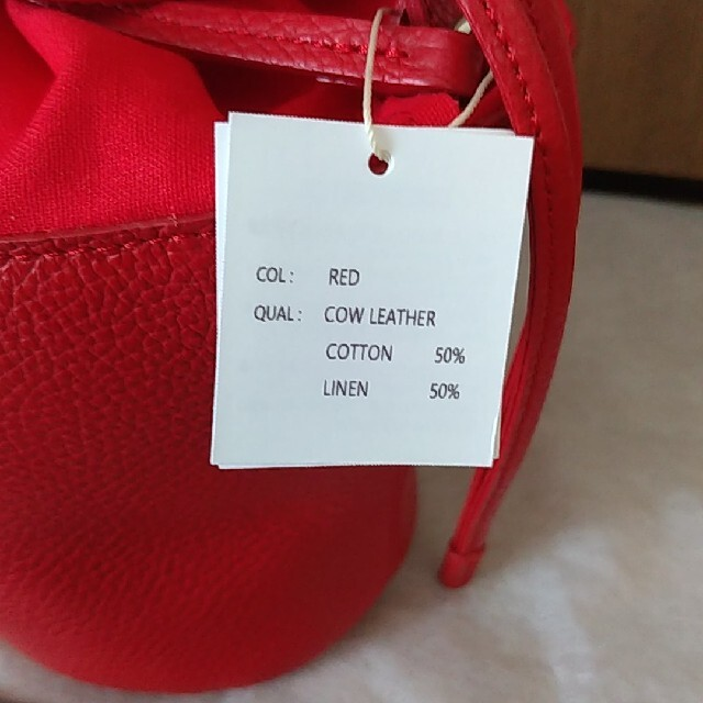 Drawer(ドゥロワー)のayako Pottery Bag/RED レディースのバッグ(ショルダーバッグ)の商品写真