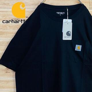 カーハート(carhartt)の③【新品未使用】カーハートCarhartt黒tシャツ L半袖ワンポイントポケット(Tシャツ/カットソー(半袖/袖なし))