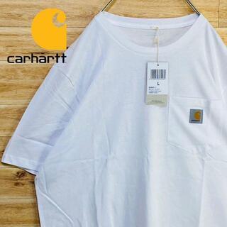 カーハート(carhartt)の③【新品未使用】カーハートCarhartt白tシャツ 半袖Lワンポイントポケット(Tシャツ/カットソー(半袖/袖なし))