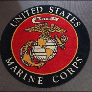アメリカ ミリタリー  海軍記念品   ラグ  マット(その他)