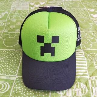 シマムラ(しまむら)の新品★タグつき★マインクラフト★帽子★グリーン★しまむら★キッズ(帽子)