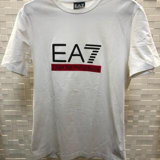 エンポリオアルマーニ(Emporio Armani)のEA7  白Tシャツ XSサイズ(ストレッチ素材)(Tシャツ/カットソー(半袖/袖なし))