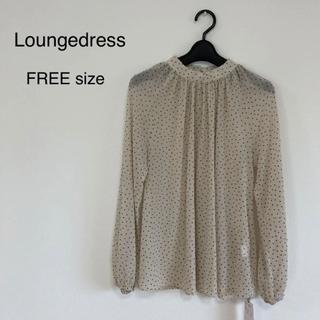 Loungedress - 【Loungedress】ドット シフォンブラウス FREEサイズ