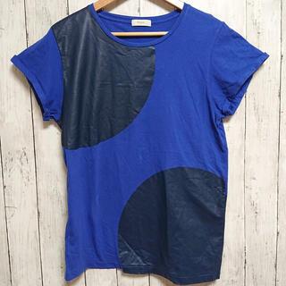 ポールスミス(Paul Smith)の美品 ポールスミス メンズ Tシャツ 青地に黒 XL ビックサイズ(Tシャツ/カットソー(半袖/袖なし))