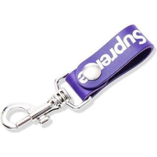 シュプリーム(Supreme)のSupreme Leather Key Loop purple(キーホルダー)