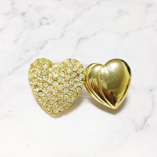 アッシュペーフランス(H.P.FRANCE)のVintage * double heart earring set(イヤリング)