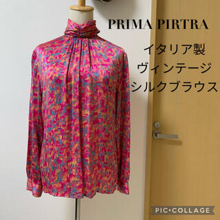 Grimoire - ヴィンテージショップ購入 PRIMA PITETRA 絹 シルクサテン ブラウス