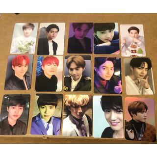 エクソ(EXO)のEXOアルバム5周年限定loveshotスホトレカtempoソロ写真カードセット(アイドルグッズ)