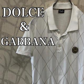 ドルチェアンドガッバーナ(DOLCE&GABBANA)の【激レア】ドルチェ&ガッバーナ ポロシャツ  胸刺繍ロゴ ホワイト(ポロシャツ)