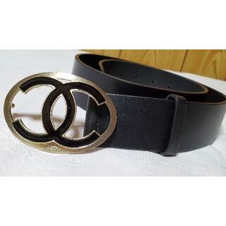 シャネル(CHANEL)の正規良 シャネル クルーズ CCココマークロゴバックル ベルト黒 80 4cm幅(ベルト)