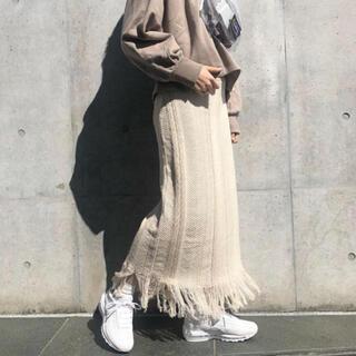 Kastane - ジャガード柄フリンジスカート