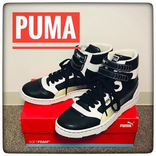 プーマ(PUMA)の【美品】PUMA(プーマ)★SKYⅡ★ハイカットスニーカー★黒×白27.0cm★(スニーカー)