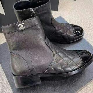シャネル(CHANEL)のCHANEL新品未使用(室内試着のみ) ブーツ  ブラック(ブーツ)