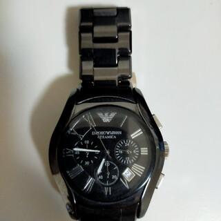 エンポリオアルマーニ(Emporio Armani)のEMPORIO ARMANI 腕時計 黒(腕時計(アナログ))