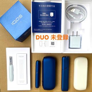 IQOS - iQOS 3 DUOキット一式+3 MULTI ステラーブルー+DUO白充電器