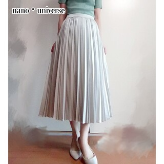 nano・universe - 処分価格【新品】nano・universe ランダムプリーツスカート