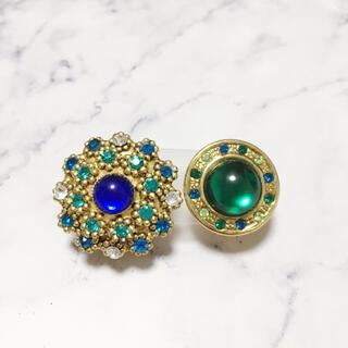 アッシュペーフランス(H.P.FRANCE)のVintage *blue & green bijou earring(イヤリング)
