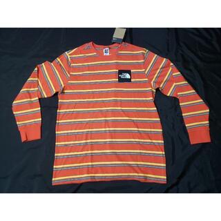 ザノースフェイス(THE NORTH FACE)のノースフェイス/メンズ/ボーダー 長袖Tシャツ/US-M ボックスロゴ(Tシャツ/カットソー(七分/長袖))