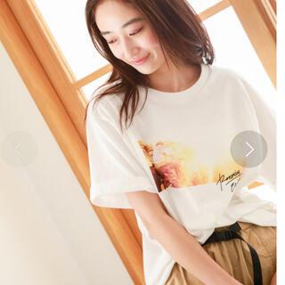 ニコアンド(niko and...)の niko and…  オーディエンスフォトTシャツ  ホワイト M  美品♪(Tシャツ(半袖/袖なし))