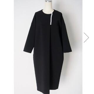 Drawer - 【定価66000円】YOKO CHAN パールモチーフ8分袖 ワンピースドレス