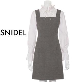 snidel - SNIDEL スナイデル グレンチェック柄 タイト ミニ ワンピース ジャンスカ