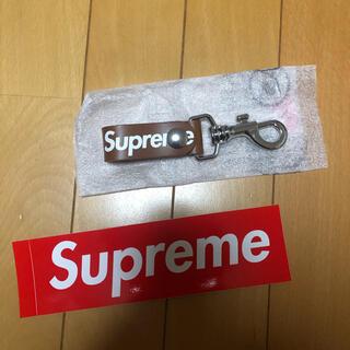 シュプリーム(Supreme)のシュプリーム  supreme   leather key loop  ブラウン(キーホルダー)
