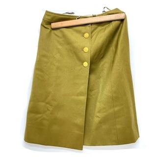 シャネル(CHANEL)のCHANEL シャネル P08468 96A ココマーク ボタン スカート(ひざ丈スカート)